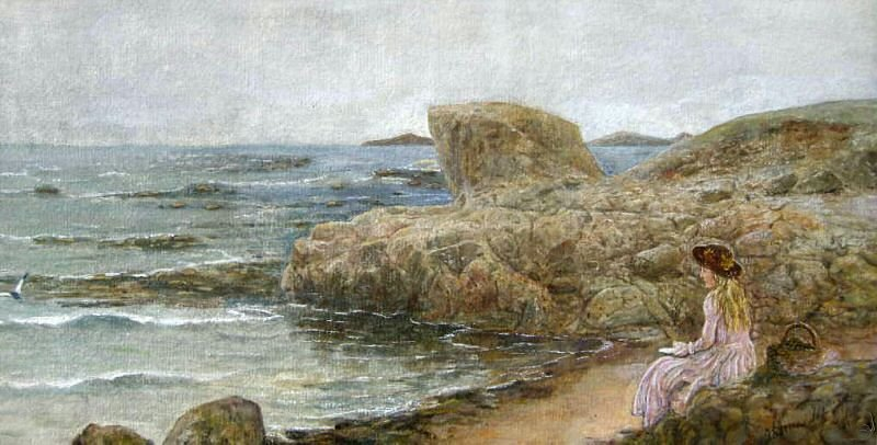 'Gazing out to Sea', by Thomas M. M. Hemy, date unknown.